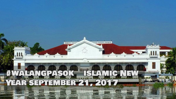 WalangPasok Legal Holiday for Islamic New Year
