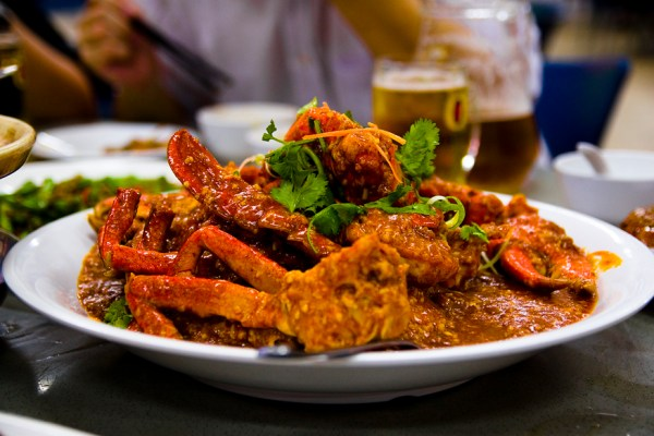 Singapore Hawker Food Chili Crab via Wikipedia