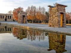 Debod Temple in Madrid - Etihad Airways announces Economy Class and Business Class Promotion