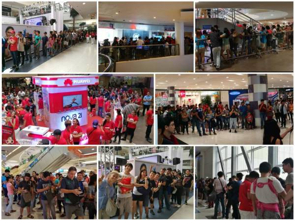 Huawei Fans during the launch of NOVA