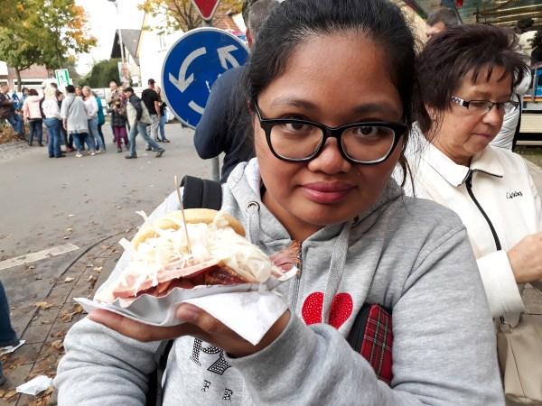 Me with Grillschinken sandwich