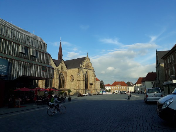 Another side of the Marktplatz, with a portion of the cathedral in sight