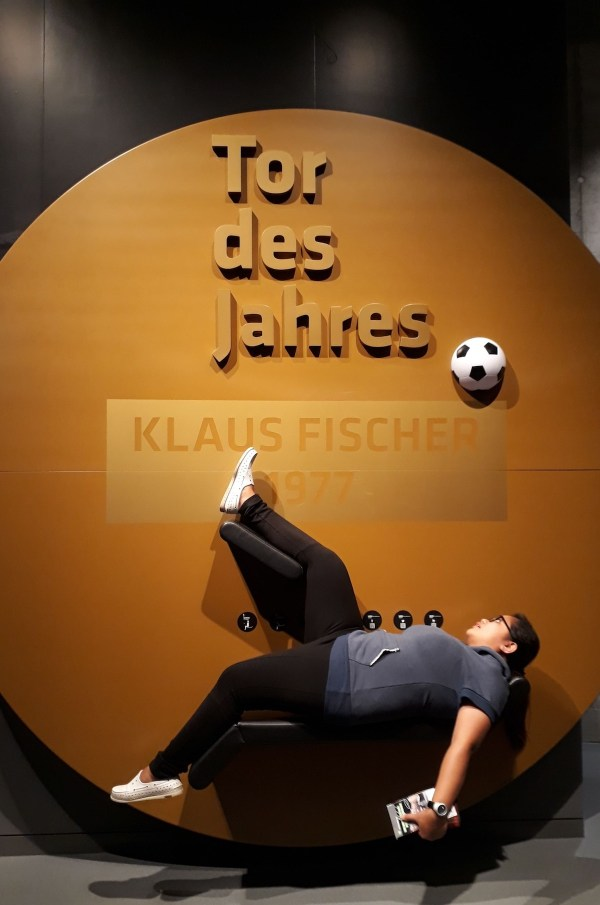 "Me doing the ""Tor des Jahres"""
