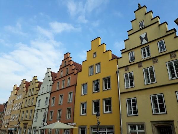 Postcard-worthy buildings in Osnabrück, on the Marktplatz
