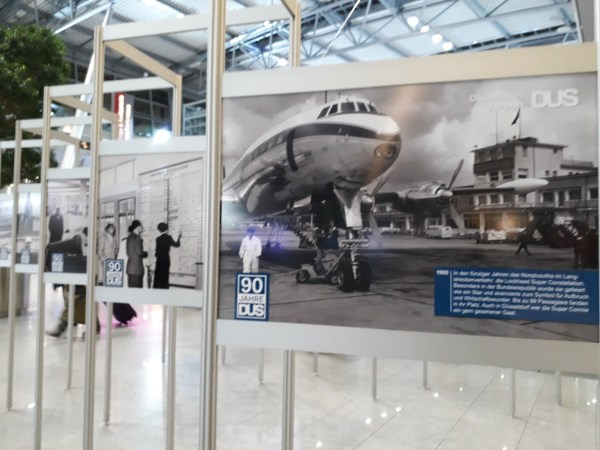 Düsseldorf Airport celebrating 90 years with a photo exhibit