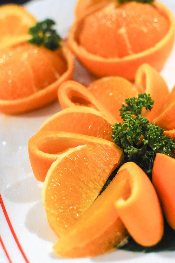 A Platter of fresh Oranges
