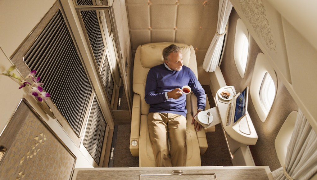 Emirates first class cabins [Image Credit: Emirates]