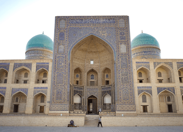 A magnificent madrassa in the Silk Road city of Bukhara