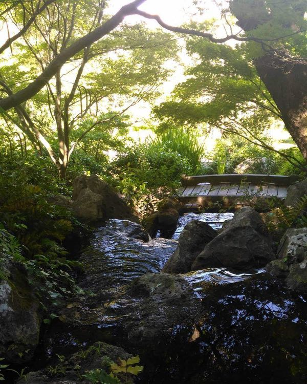 The small river insied The Japanese Garden