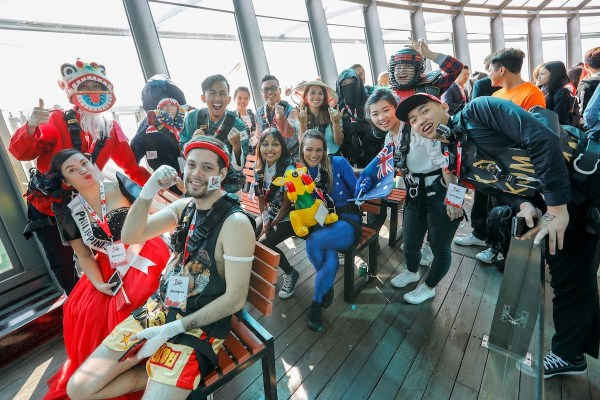 """Crazy Jump Day - Twenty-three participants from across Asia Pacific battled it out in """"AirAsia Destination"""" theme costumes at Crazy Jump Day 2017 at Macau Tower."""