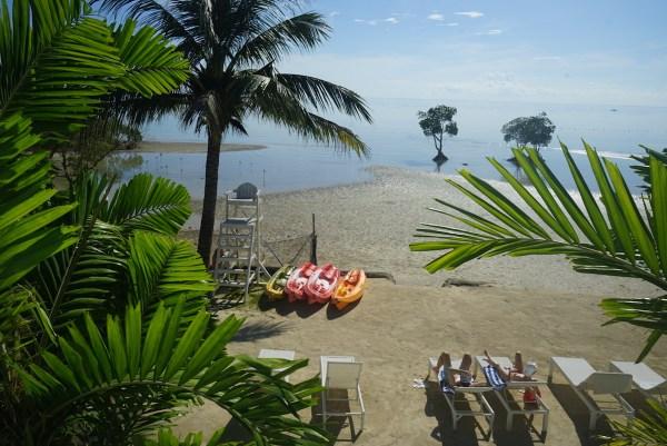 Beachfront of Microtel Palawan