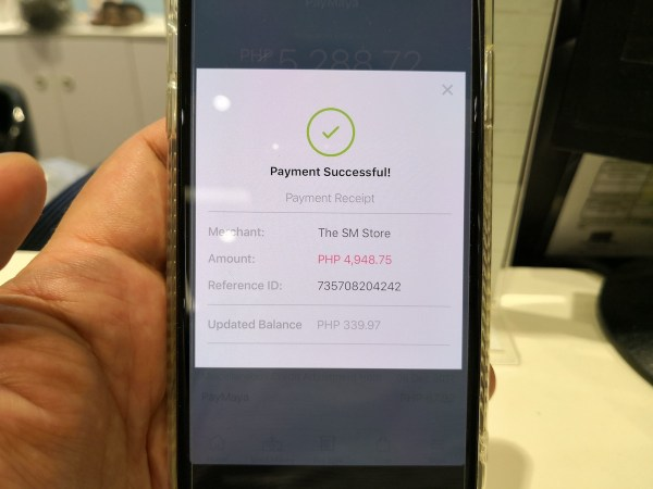 Verify the amount and click PAY