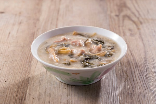 Pork Bone Congee with Dried White Cabbage