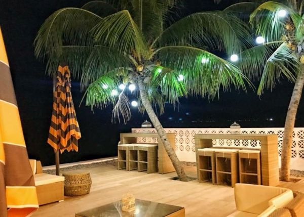 Guests can enjoy staying outdoors during the night.