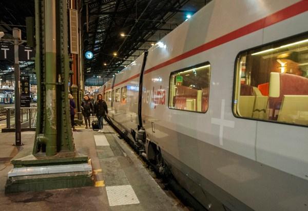 Leaving Paris for Lausanne on the TGV.