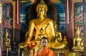 Novice Monk in Chiang Mai Thailand