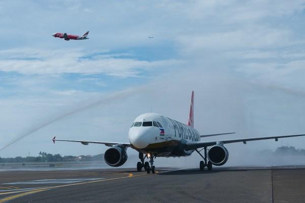 Manila-Jakarta flights - Traditional water cannon salute upon arrival at Soekarno-Hatta International Airport.