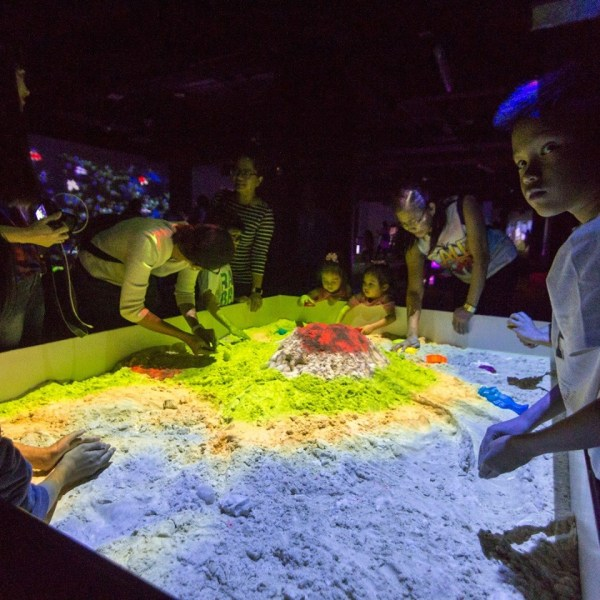 One of the interactivev sections in Playlab - the Sandbox. Photo via Playlab's official Facebook page.