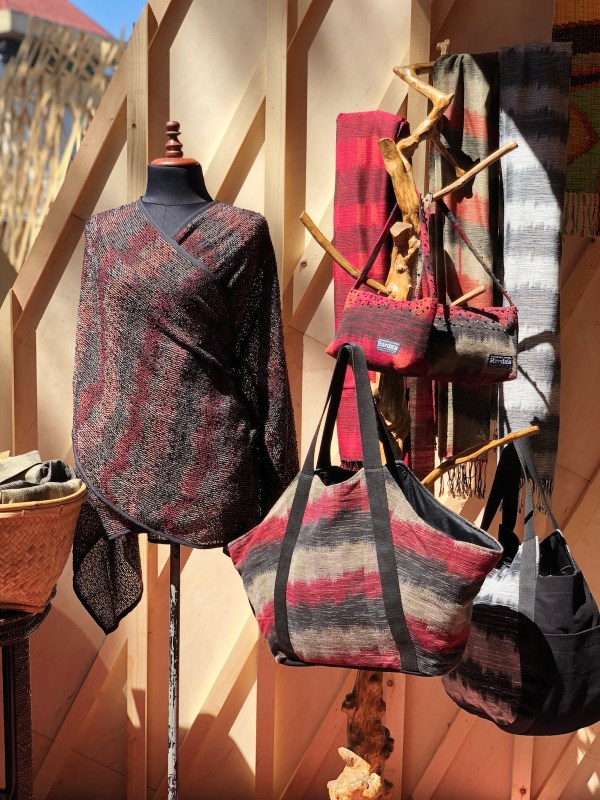 Bags and Clothing made from local fabrics