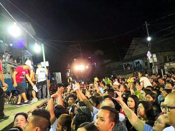 Locals celebrating the religious festival