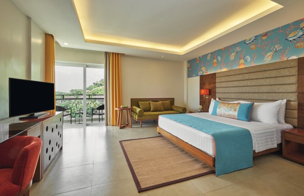 The Premium Sea View room, one of the room choices in Mövenpick Boracay.