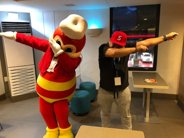 Swag pose with Jollibee
