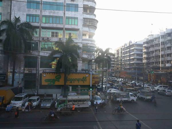Loving Yangon streets in the morning.