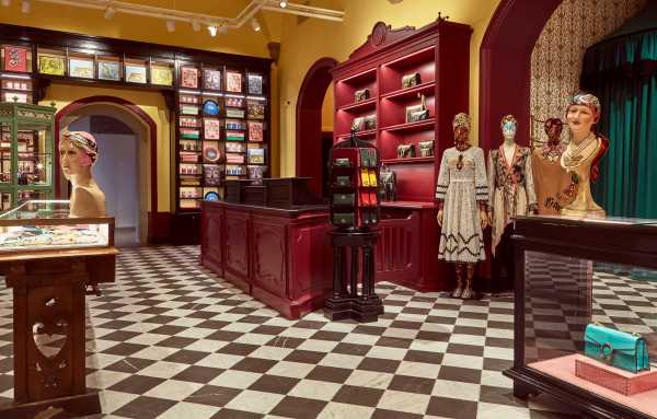 Boutique inside the Gucci Garden. Image via Gucci official website.