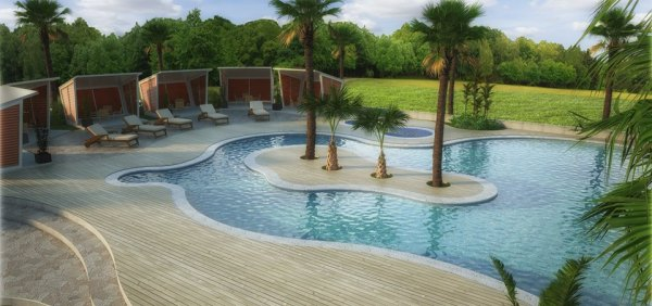 Swimming pool inside the residence.