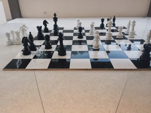 Huge giant chess set