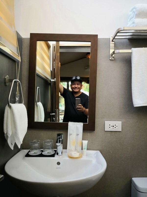 Bathroom inside Kamalig Tent Room