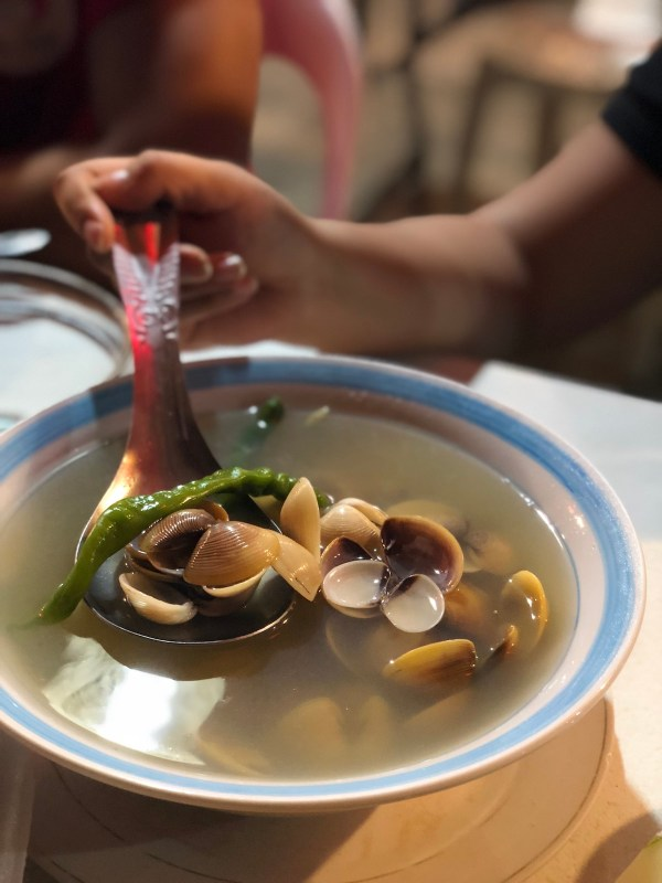 Clam Soup at Almax Grill and Restaurant