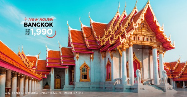 Flights from Manila to Bangkok via AirAsia