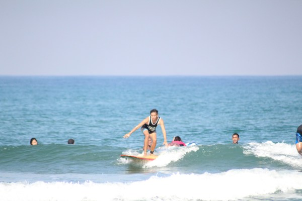 Surfing in La Union.