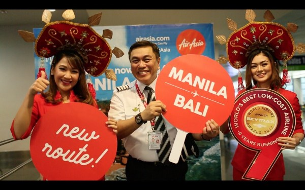 Manila to Bali Inaugural Flight with AirAsia PH CEO CaptainDexter Comendador