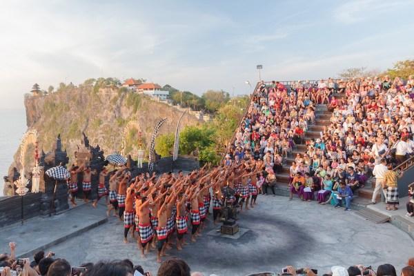 Monkey Dance in Uluwatu Temple Bali Budget Itinerary