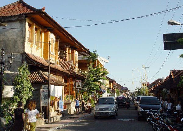 Monkey Forest Street in Ubud