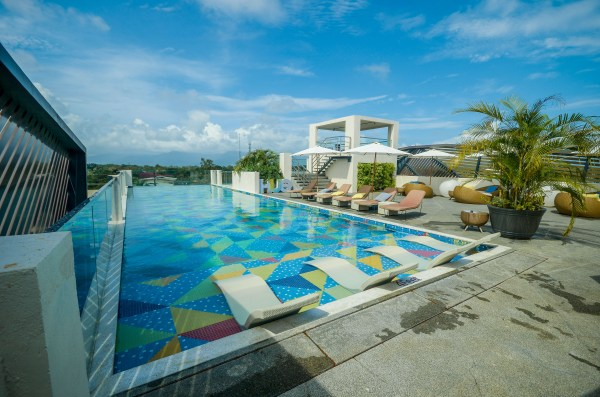 The Roofdeck pool where hotel guests can take a dip and chill anytime of the day.