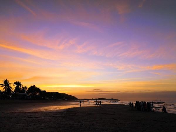 Sunset at Baybay Beach