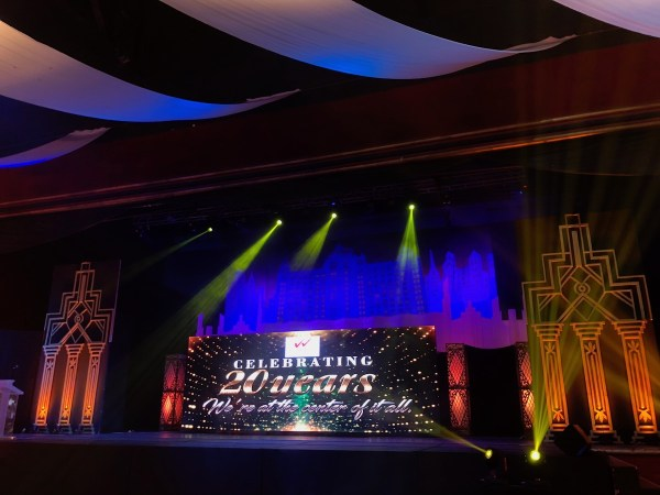 The stage is ready