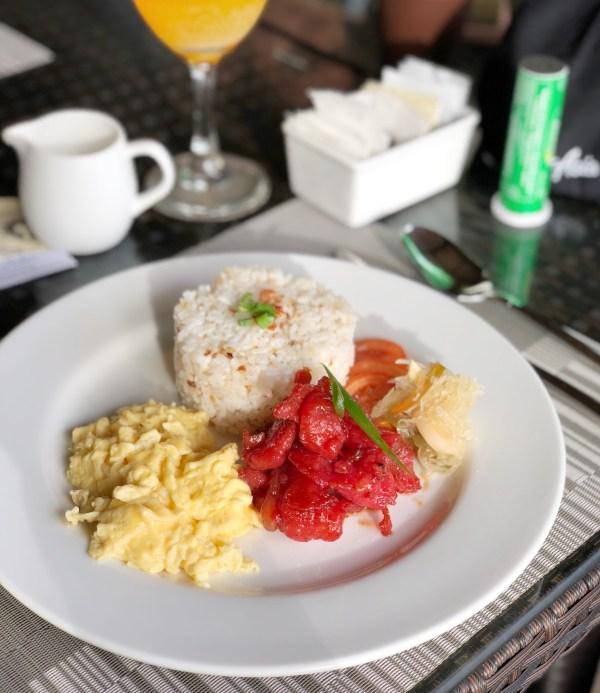 Tocino Breakfast at Angga Restauran