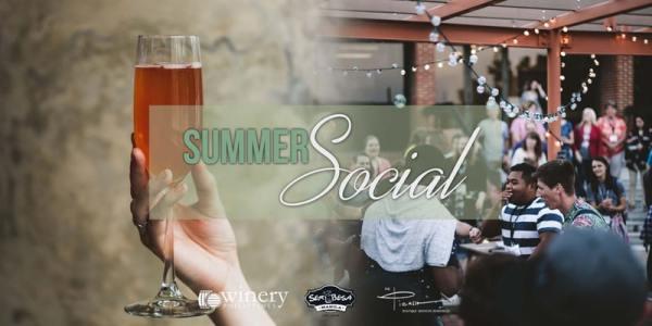 Summer Social event poster. Photo via event brite.