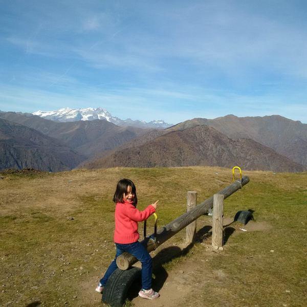 Autumn on the alpine trench