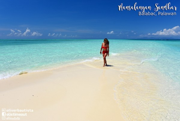 Mansalangan Sandbar in Palawan photo by Oliver Bautista