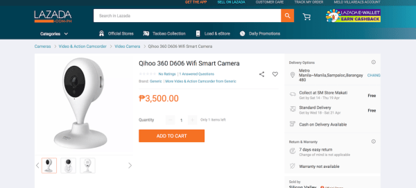 Qihoo 360 D606 Wifi Smart Camera Review