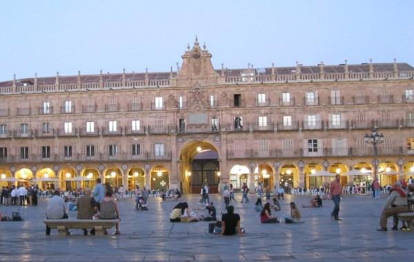 The hugely famous Plaza Mayor of Salamanca