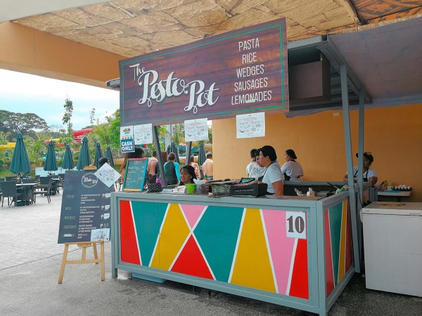 one of the food stalls in Aqua Planet