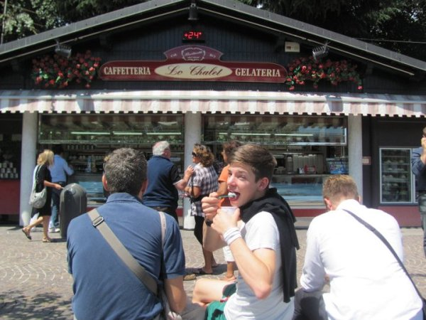A summer's day at Le Chalet Gelateria in Biella - Delicious Authentic Gelato in Italy