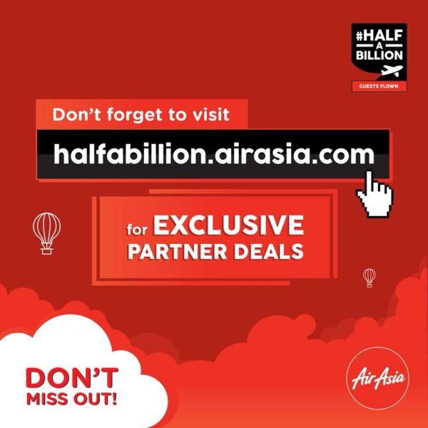 AirAsia #halfabillion Exclusive Partner Deals