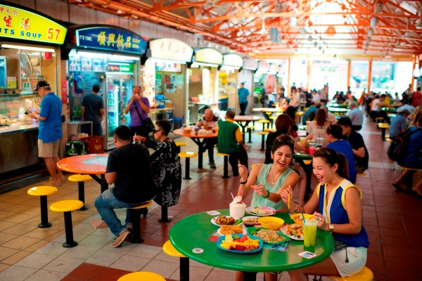 At the Maxwell Hawker Center, visitors can find delicious, local favorites and experience authentic Singaporean dining all in one spot.